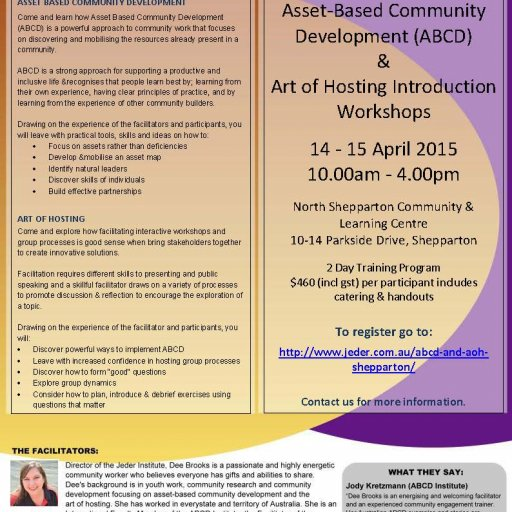 Shepparton Workshops 14-15 April 2015