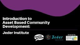 Introduction to ABCD when working with young people