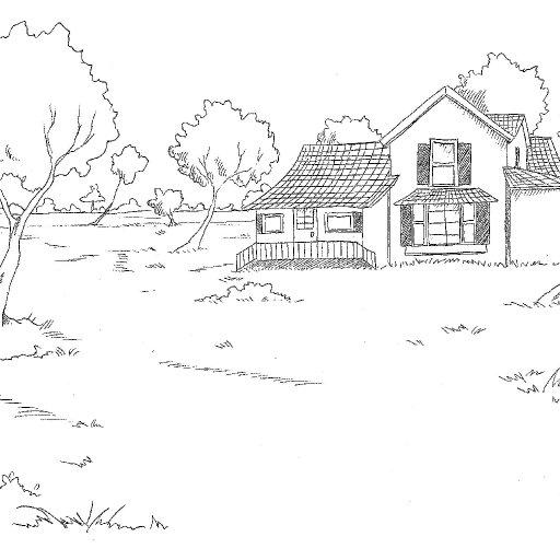 Prairie PHyre farm Lawn Drawing house Daria