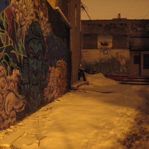 Snowy entrance to Black Gate Studios